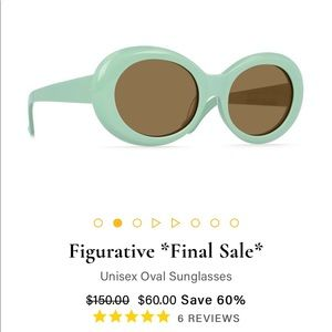 NWT RAEN Figurative retro Sunglasses